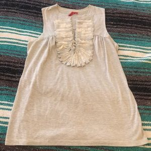 Anthropologie tank with ruffle detail